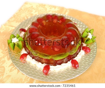 Jello grape cake dessert - stock photo