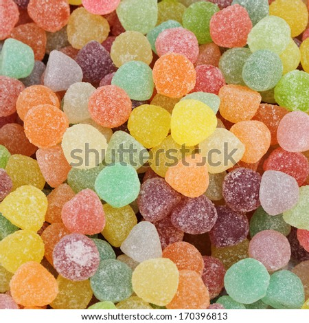 jelly bean  candies as background - stock photo