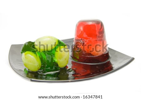 jelly on plate - stock photo