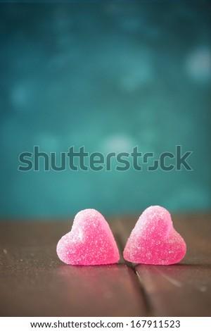 Jelly sweets heart - stock photo