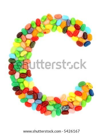 jellybean C - stock photo