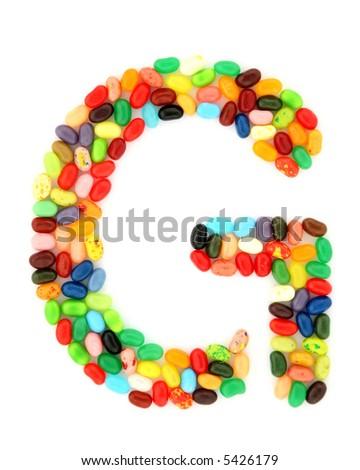 jellybean G - stock photo