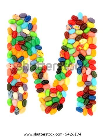 jellybean M - stock photo