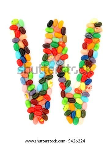 jellybean W - stock photo