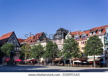 Jena Market Square - stock photo