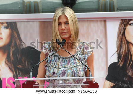 Jennifer Aniston at Jennifer Aniston's Hand & Footprint Ceremony, Grauman's Chinese Theatre, Hollywood, CA. 07-07-11 - stock photo