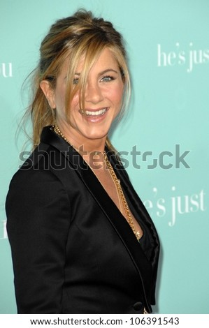 Jennifer Aniston  at the World Premiere of 'He's Just Not That Into You'. Grauman's Chinese Theatre, Hollywood, CA. 02-02-09 - stock photo