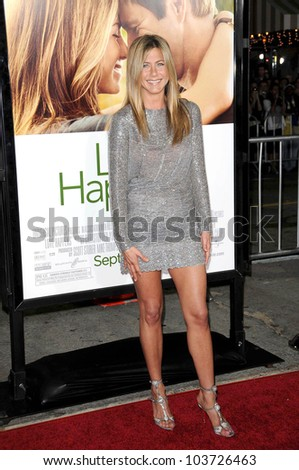 Jennifer Aniston  at the World Premiere of 'Love Happens'. Mann Village Theatre, Westwood, CA. 09-15-09 - stock photo