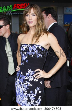 Jennifer Garner at the Los Angeles premiere of 'The Invention of Lying' held at the Grauman's Chinese Theater in Hollywood, USA on September 21, 2009. - stock photo