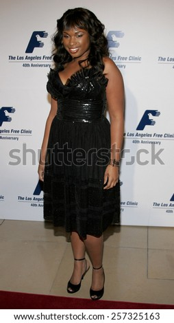 Jennifer Hudson a the Los Angeles Free Clinic Annual Dinner Gala Honoring Paramount Pictures held at the Beverly Hilton Hotel in Beverly Hills on November 20, 2006. - stock photo