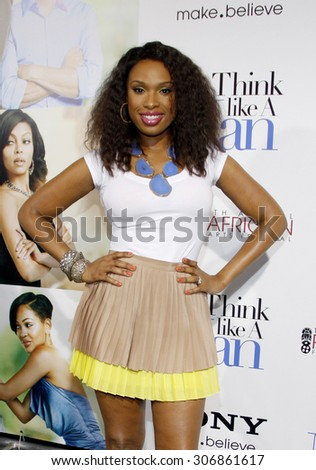 Jennifer Hudson at the Los Angles premiere of 'Think Like a Man' held at the ArcLight Cinemas in Hollywood, USA on February 9, 2012. - stock photo