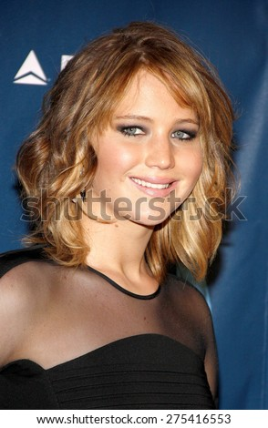 Jennifer Lawrence at the 24th Annual GLAAD Media Awards held at the JW Marriott Hotel in Los Angeles, United States, 200413.  - stock photo