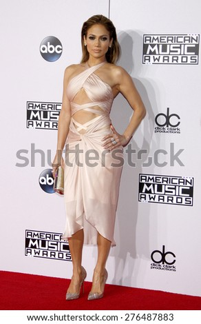Jennifer Lopez at the 2014 American Music Awards held at the Nokia Theatre L.A. Live in Los Angeles on November 23, 2014 in Los Angeles, California.  - stock photo