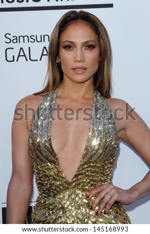 Jennifer Lopez at the 2013 Billboard Music Awards Arrivals, MGM Grand, Las Vegas, NV 05-19-13 - stock photo