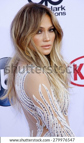 Jennifer Lopez at the 2015 Billboard Music Awards held at the MGM Garden Arena in Las Vegas, USA on May 17, 2015.  - stock photo