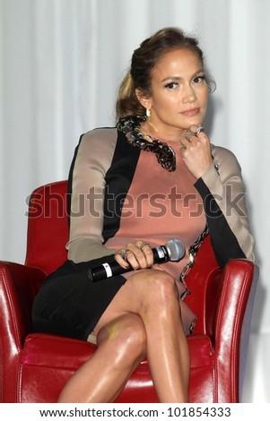 Jennifer Lopez at the Jennifer Lopez and Enrique Iglesias Summer Tour 2012 Press Conference, Blvd. 3, Hollywood, CA 04-30-12 - stock photo