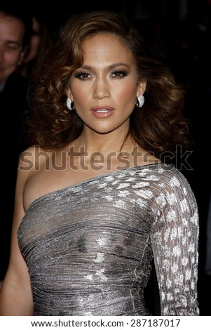 Jennifer Lopez at the Los Angeles premiere of 'The Back-Up Plan' held at the Regency Village Theatre in Westwood on April 21, 2010. - stock photo