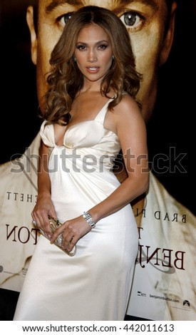 Jennifer Lopez at the Los Angeles premiere of 'The Curious Case of Benjamin Button' held at the Mann Village Theater in Westwood, USA on December 8, 2008. - stock photo