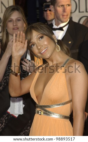 JENNIFER LOPEZ at the 61st Annual Golden Globe Awards at the Beverly Hilton Hotel, Beverly Hills, CA. January 25, 2004 - stock photo
