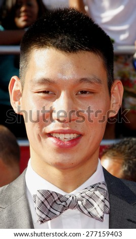 Jeremy Lin at the 2012 ESPY Awards held at the Nokia Theatre L.A. Live in Los Angeles on July 11, 2012.  - stock photo