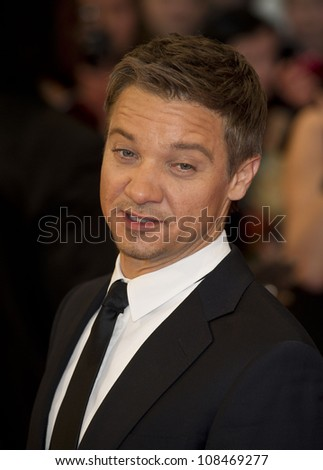 "Jeremy Renner arrives for the ""Avengers Assemble"" premiere at the Vue cinema Westfield, London. 19/04/2012 Picture by: Simon Burchell / Featureflash - stock photo"