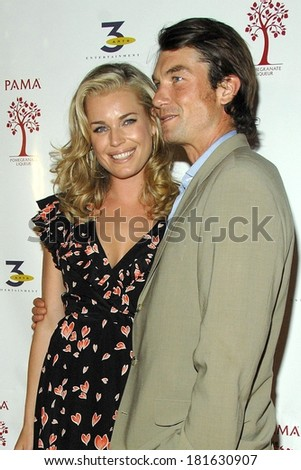 Jerry O'Connell, Rebecca Romijn at PAMA Pomegranate Liqueur & 3 Arts Entertainment 2007-2008 TV Network Upfronts Previews After-Party, The Grand, New York, May 15, 2007 - stock photo