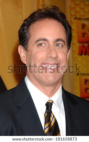Jerry Seinfeld at BEE MOVIE Premiere, AMC Loews Lincoln Square 13 Cinema, New York, NY, October 25, 2007 - stock photo