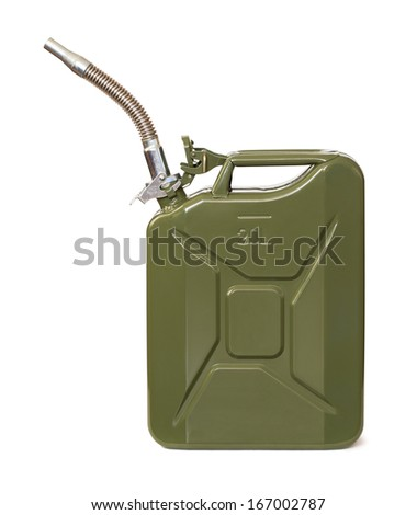 Jerrycan with flexi pipe spout - stock photo