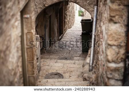 Jerusalem, Israel hillside homes near the old city. - stock photo