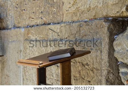 Jerusalem , Israel - July 09 . 2014 : Beautiful photo at the Wailing Wall in the Old City of Jerusalem. Israel. - stock photo