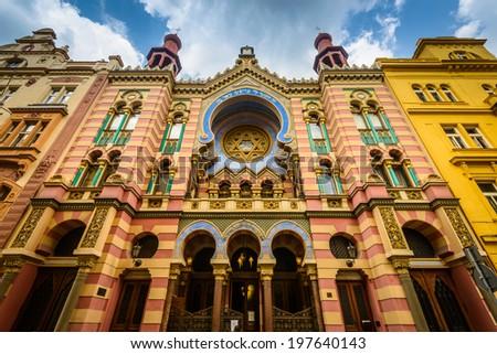 Jerusalem (Jubilee) Synagogue in Prague ,Czech Republic. - stock photo