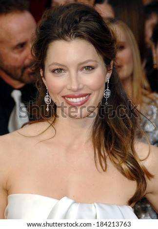 Jessica Biel at 81st Annual Academy Awards - ARRIVALS, Kodak Theatre, Los Angeles, CA 2/22/2009  - stock photo