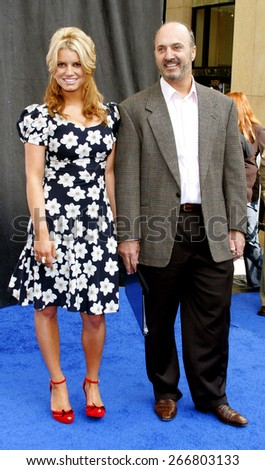 Jessica Simpson and John Antioco, Chairman and CEO of Blockbuster attend the Blockbuster Total Access Launch held at the Kodak Theatre in Hollywood, California, on November 2, 2006.  - stock photo