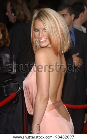 JESSICA SIMPSON at the 31st Annual American Music Awards in Los Angeles. November 16, 2003  Paul Smith / Featureflash - stock photo