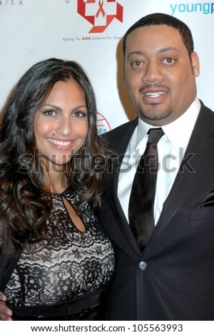 Jessie Camacho and Cedric Yarbrough  at the 2009 Valentines Day Gala 'Love Conquers H8'. Montage Hotel, Beverly Hills, CA. 02-14-09 - stock photo