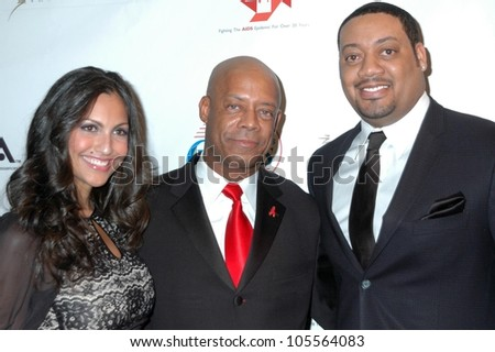 Jessie Camacho with Steve Neeley and Cedric Yarbrough  at the 2009 Valentines Day Gala 'Love Conquers H8'. Montage Hotel, Beverly Hills, CA. 02-14-09 - stock photo