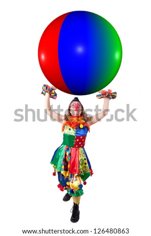 jester with the ball - stock photo