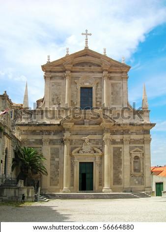 Jesuit church of St. Ignatius, Dubrovnik, Croatia - stock photo
