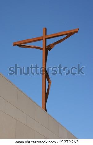 Jesus Christ crucified - stock photo