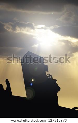 jesus crucifixion - stock photo