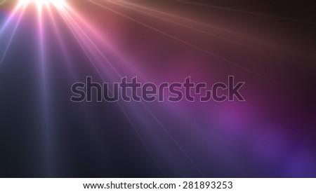 Jesus Light magenta color lens flare special effect - stock photo