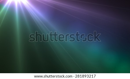 Jesus Light purple and green color lens flare special effect - stock photo