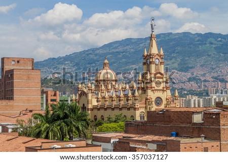 Jesus Nazareno Church In Medellin, Colombia - stock photo