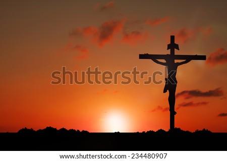 Jesus on Cross - stock photo