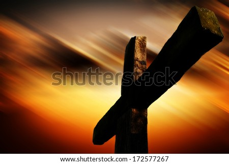 jesus passion cross - stock photo