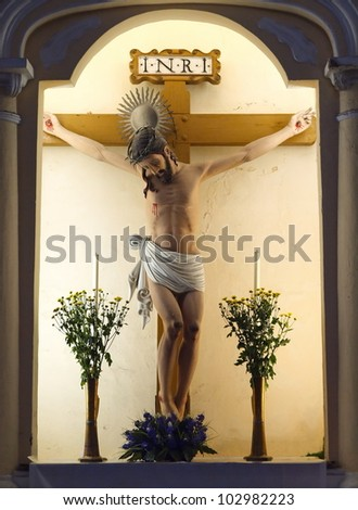 Jesus statue in the  St. Dominic's Chruch, Macao - stock photo