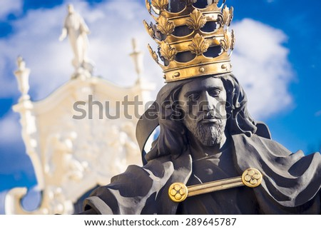 Jesus the king of world in Jasna Gora in Czestochowa, Poland - stock photo