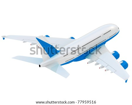 Jet airliner. - stock photo