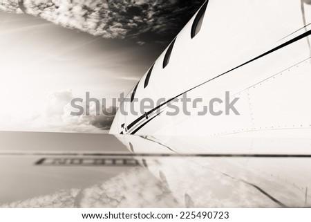 jet detail - stock photo