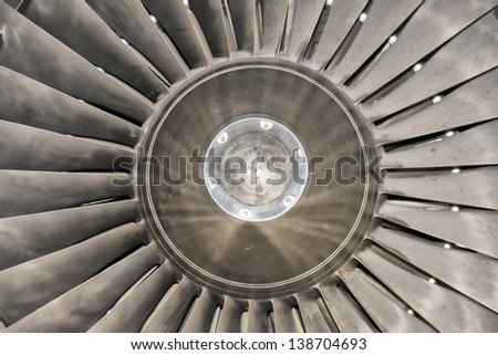 Jet engine detail - stock photo